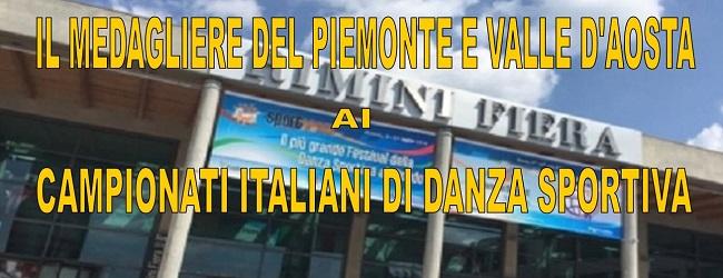 IL MEDAGLIERE DEI CAMPIONATI ITALIANI